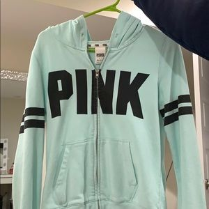 PINK Victoria's Secret Sweaters - VS PINK zip up sweater